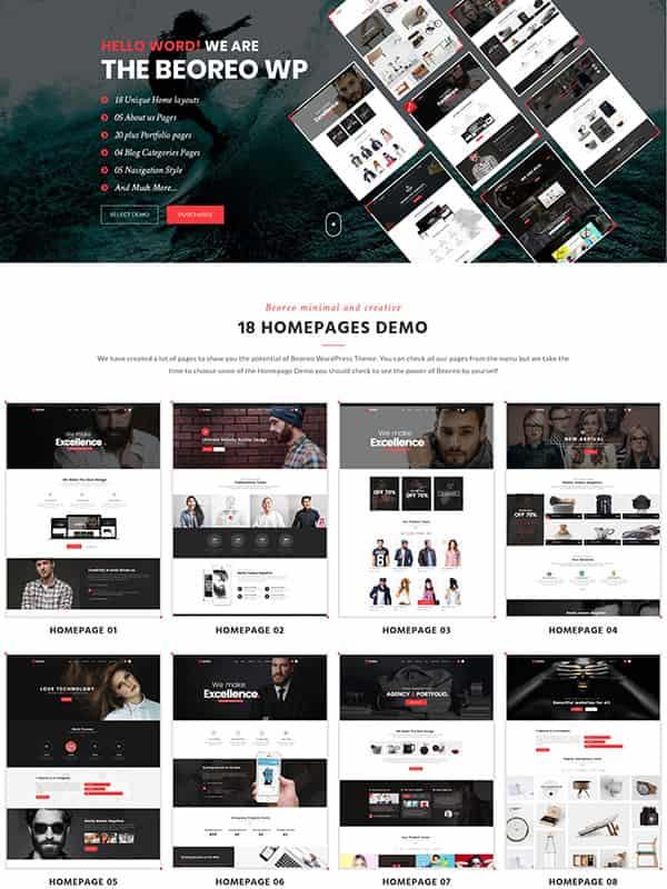 Beoreo | Creative Multi-Purpose WordPress Theme