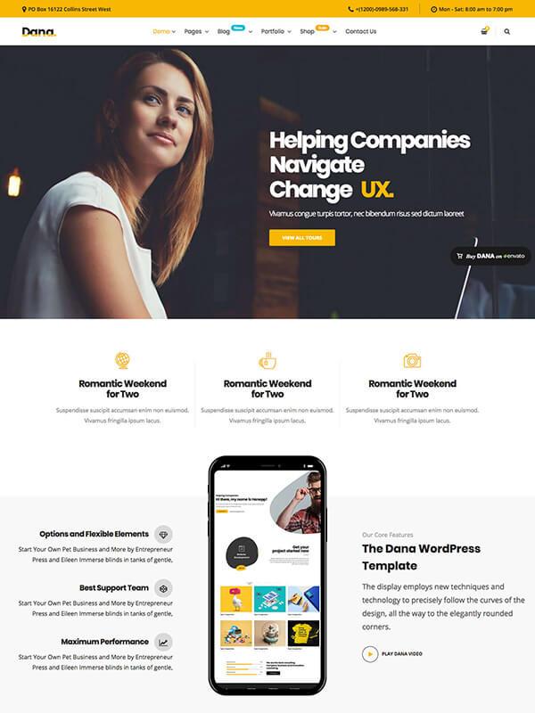 Dana – Corporate Business Multi-Purpose WordPress Themes